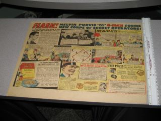 Newspaper Ad 1930s Melvin Purvis G Man Comic Book Strip Premium Cereal