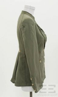 McQ Alexander McQueen Army Green Cotton Button Front Jacket Size 40