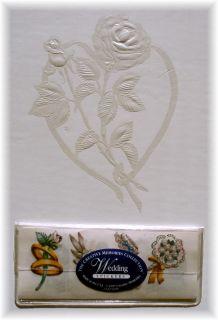 Creative Memories White 12 Embossed Rose Wedding Album