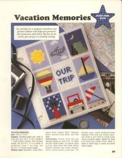 Vacation Memories Photo Album Cover P Canvas Pattern