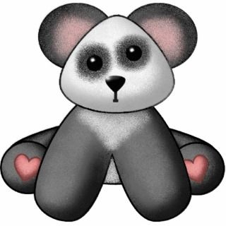 Panda Bear Teddy Bear Wall Sculpture Cut Outs