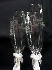 Maid of Honor, Bes Man Wedding champagne oasing glasses favor gif