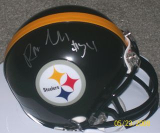 Rashard Mendenhall Signed Autographed Pittsburgh Steelers Mini Helmet
