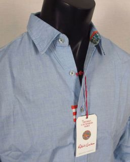 Mens Button Up Woven Robert Graham Monkey Tail Fresh Laundered Shirt