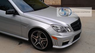 2010 2011 W212 Mercedes E Class E350 E550 Grill grille Matt Black 100%
