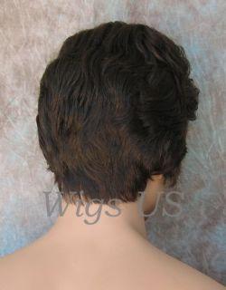 Wigs Hot Brown Longer Top Gentle Waves Mens Wig