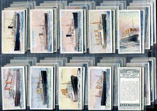 Tobacco Card Set, WD & HO Wills, MERCHANT SHIPS OF THE WORLD, Shipping