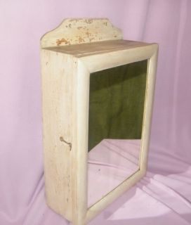 Antique Vintage Primitive Wall Mirror Medicine Cabinet