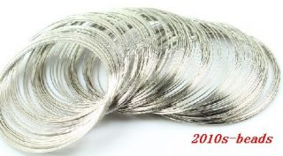100LOOPS Steel Memory Wire for Bracelet Bangle Cuff 60mm 2 Color