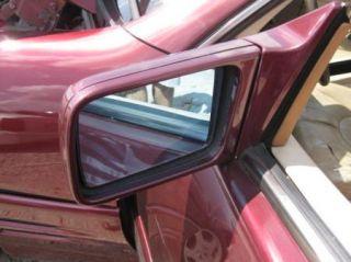 Mercedes Benz R129 SL Left Driver Side View Mirror Door Maroon Red OEM