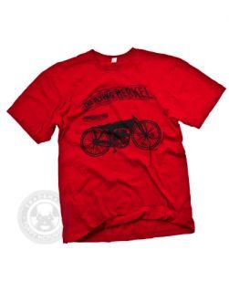 Flying Merkel Vintage Art of The 1920s Model V Motorcycle Pedal Bike T