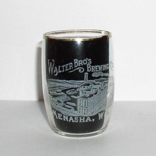 Walters Bros Brewing Etched Glass Menasha Wi