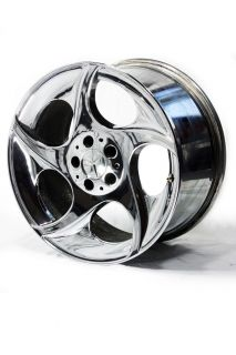 18 Factory Chrome Mercedes SL Wheels 65324 65325 Turbine Style