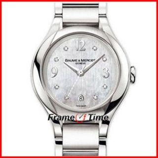 Baume & Mercier Lady Ilea 8769 Stainless Steel Pearl MOP Diamond Watch