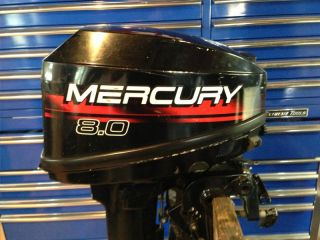 1997 Mercury 8 HP Outboard Motor 2 Stroke Tiller Engine Water Ready