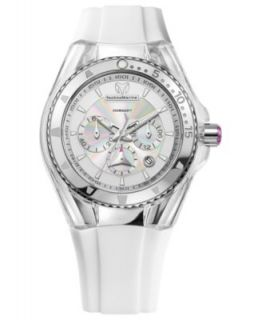 TechnoMarine Watch, Womens Swiss Chronograph Cruise Lipstick White