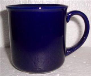 Mervyns Cobalt Blue Stoneware Ceramic Coffee Mug Japan