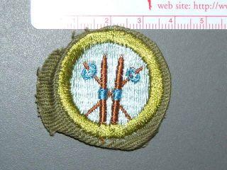 Boy Scout Merit Badge Skiing Circa 46 59 4054M