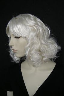 Lady Messy Pale Blonde G5 Wig Bad Romance Costume Bob