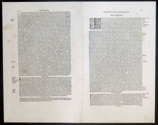 1611 Mercator Hondius Antique Map Morocco Canary Islands Gibralter NW