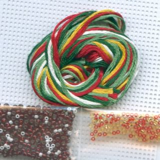 Be Merry Beaded Christmas Ornament Kit Mill Hill 2010 Winter Holiday