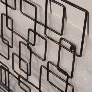 22 Mid Century Modern Geometrical Metal Wall Sculpture Art