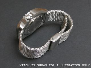 Stainless Steel Mesh Watch Strap Milanese Mesh Adjustable Length