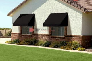 Classic Retractable Window Awning Black Awnings