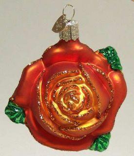 Merck Familys Old World Christmas Rose Orange 8352799