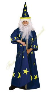 Merlin The Magician Wizard Spell Master Halloween Costume Blue Robe
