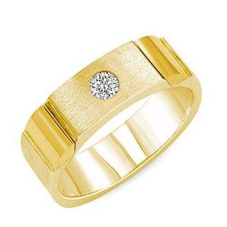 15ct Natural Mens Round Diamond Wedding Ring G VS1 Band 14k Yellow
