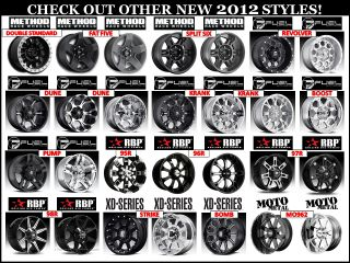 Method MR304 Double Standard 16x8 Black Wheels 6X5.5 Qty. 4 Silverado