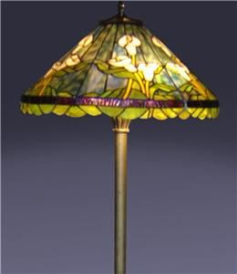 Tiffany Style Handcrafted Stained Glass Calla Lily Floor Lamp H 63x