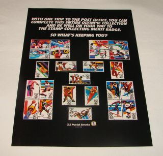 1984 USPS Boy Scouts Olympic Stamp Collecting Ad