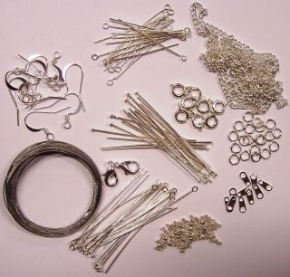 Findings Kit Silver Tone For Jewellery Making & Beading Pins,Clasps
