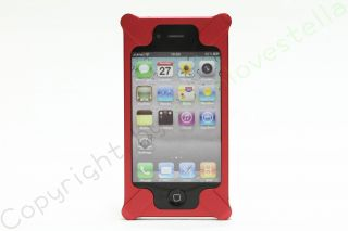 Red Aluminum Metal Steel Hard Back Case Cover Bumper Apple iPhone 4 4S