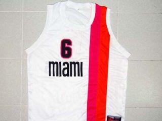 Lebron James Miami Floridians Retro Jersey White New Any Size