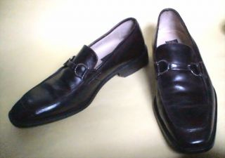 Mercanti Fiorentini Dark Brown Leather Horsebit Loafer Sz 10 M