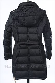 795 New Burberry Brit Metcalfe Black XS 0 2 Coat Jacket Hood Belted