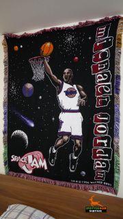Vintage Michael Jordan Space Jam Blanket RARE Mint