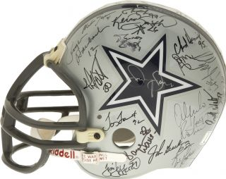 1992 Dallas Cowboys Team Superbowl Champs Signed Helmet