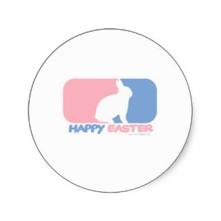 Happy Easter Logo Round Sticker