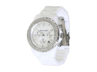 Michael Kors White Twin Row Crystal Ladies Watch New