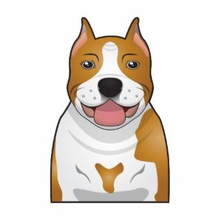 American Staffordshire Terrier Cartoon Photo Cut Out