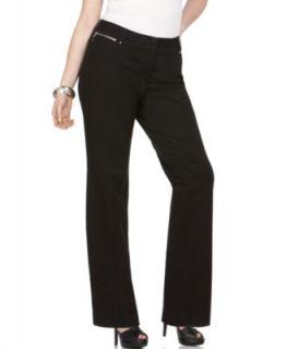 Michael Kors New Gramercy Black Five Pocket Flat Front Dress Pants