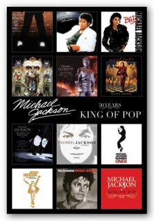 Art Poster Michael Jackson Classic Album Covers