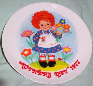 Vintage Raggedy Ann Bobbs Merrill Schmid Mothers Day 1977 Plate