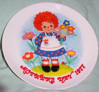 Vintage Raggedy Ann Bobbs Merrill Schmid Mothers Day 1977 Plate