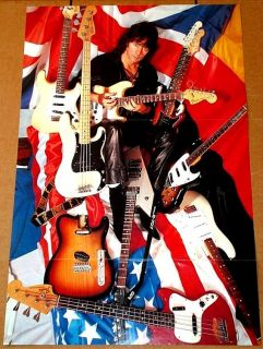 Ritchie Blackmore Deep Purple Guitar Collection Poster RARE Import