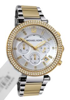 Michael Kors MK5626 Parker Chrono Silver Dial Metal Band Women Watch